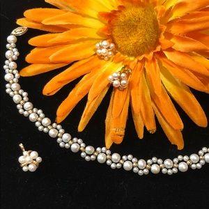 Jewelry - SALE Pearl & 14k Gold Set